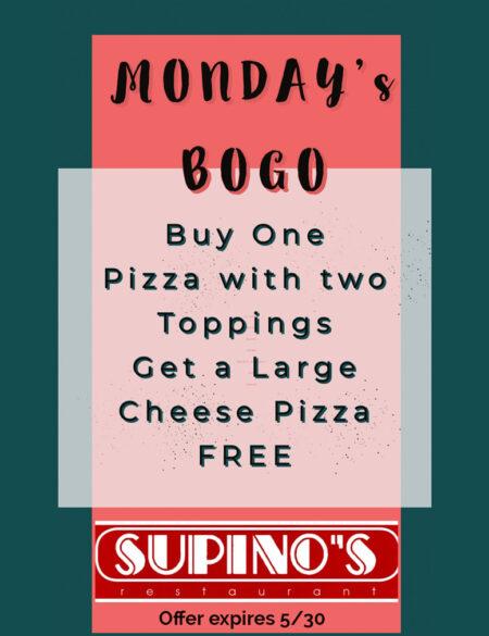 Monday BOGO Special